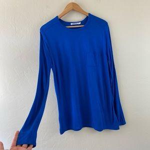 Alexander Wang Cobalt Blue Full Sleeve Pullover